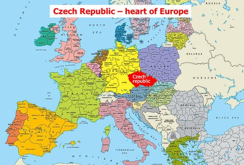 Czech market in the center of Europe